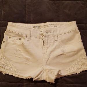 Junior's Mossimo white jean shorts
